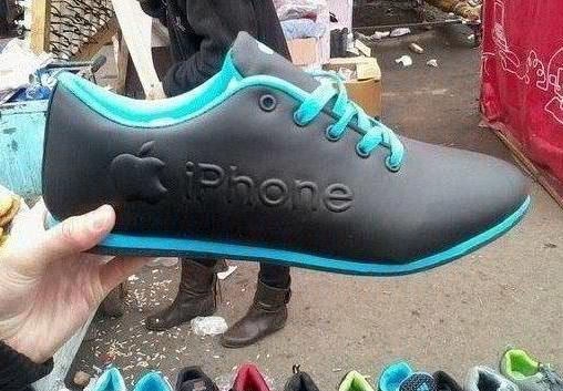 iPhone shoes fake