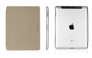 Macally Protective hardshell case with detachable cover for iPad 2/3/4 - Beige
